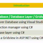 Lesson 1 - SQL Server / Data Access / Gridview