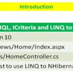 Lesson 11 - LINQ to NHibernate, jqGrid SubGrid and MVC