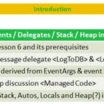 Lesson 7 - Events, Delegates, Stack and Heap